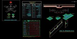 دانلود نقشه اتوکد جزییات نصب و اجرای سینی های برق ساختمان و جداول مربوطه
